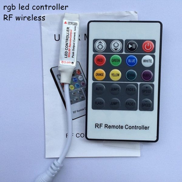 10pcs 6a DC12V 24V 3 channel rf wireless mini rgb led remote controller with female DC connector for rgb strip free shipping(China (Mainland))