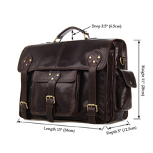 7200C J.M.D New Arrival Vintage Leather Men's Coffee Messenger Bag Briefcases(China (Mainland))