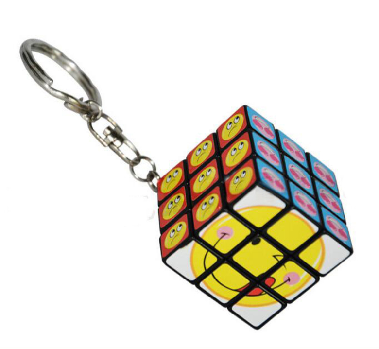 Magic Cube,challenge gifts,best toy,Puzzle cube,Educational toys,high quality,Emoticon & Smiley,3 layers,Fisher Cube,Key chain(China (Mainland))