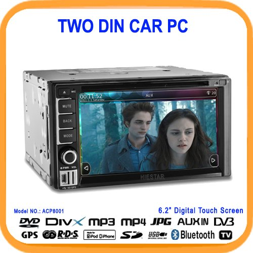 2011 New Style 6.2'' 2DIN Car Pc,DVD-ROM,GPS,Wifi+Steering Wheel Controll+DVB-T/ISDBT/CMMB (optional) (ACP8001)