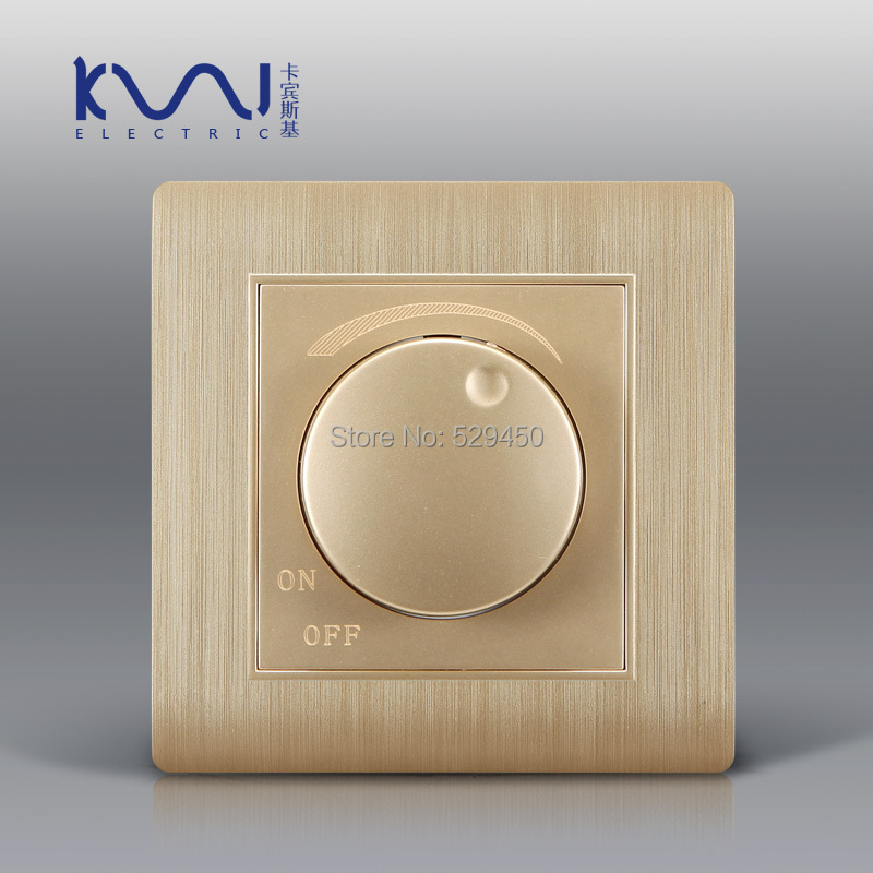 free shipping kempinski luxury wall switch light dimmer champagne gold ac 110 250v c31. Black Bedroom Furniture Sets. Home Design Ideas