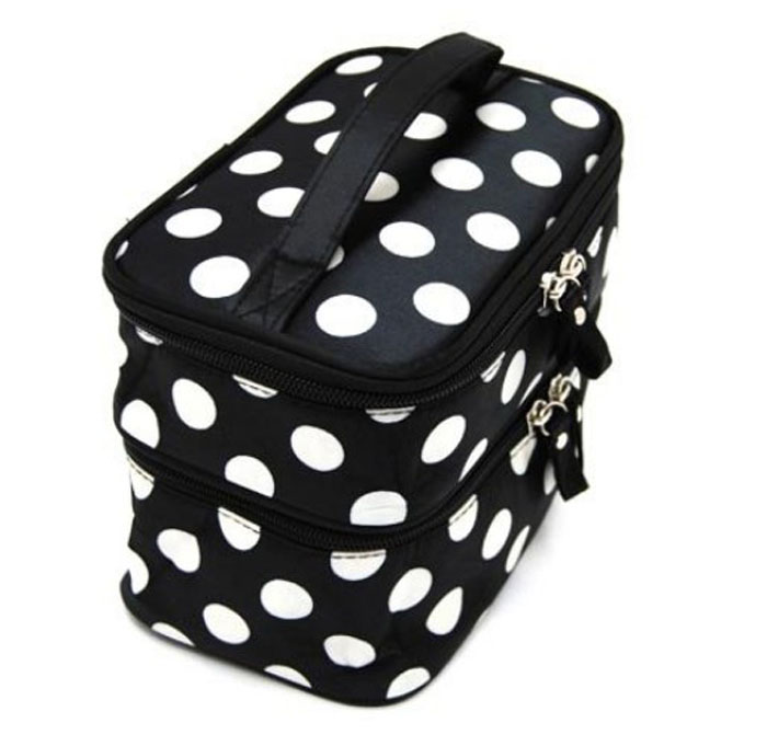 2ab1b0229dd3 Detail Feedback Questions about Trunk Cosmetic Hangbag Women Dots ...