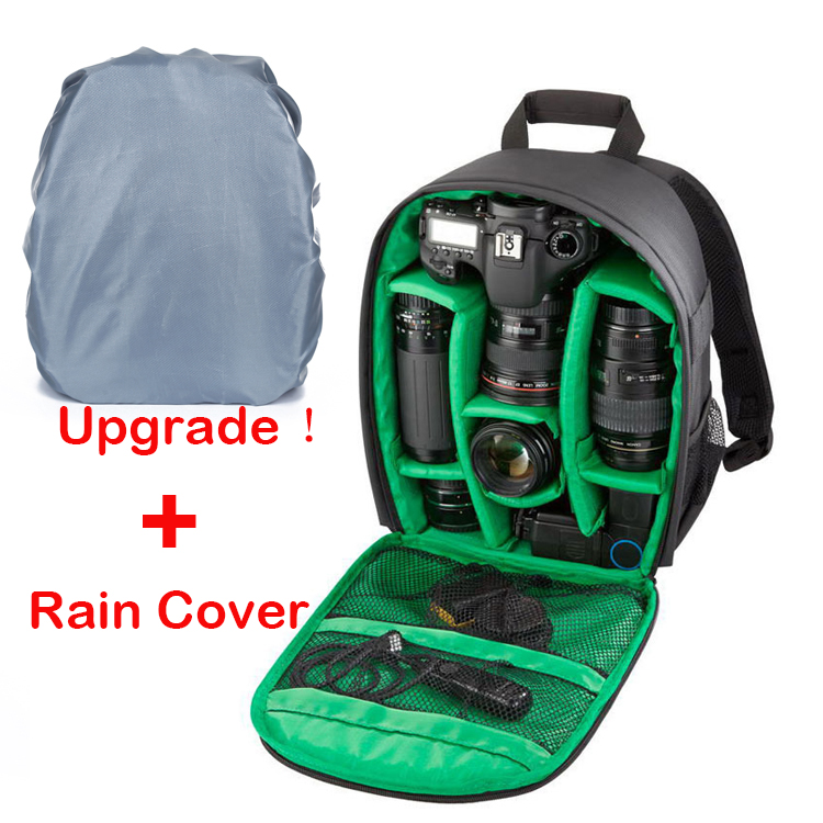 Гаджет  Rain Cover+New Pattern DSLR Camera Bag Backpack Video Photo Bag for Camera d3200 d3100 d5200 d7100 Small Compact Camera Backpack None Бытовая электроника