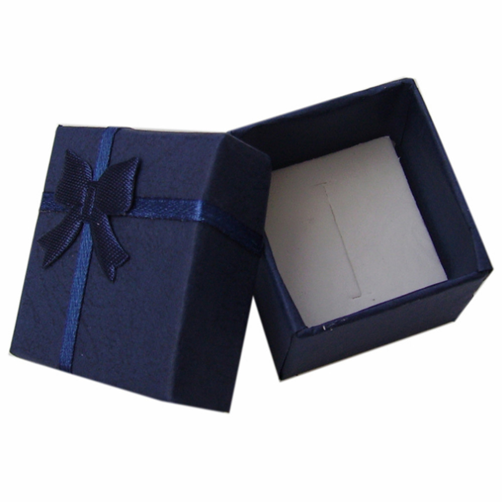 wholesale fashion ring blue gift box shop jewelry paper Packaging & Display(China (Mainland))