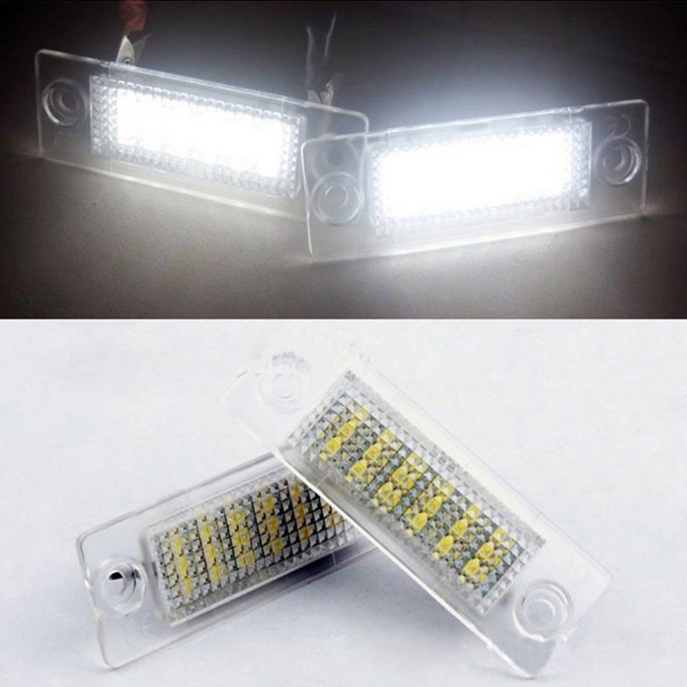 2x 12V 18 LEDs License Number Plate Light Lamp For VW Transporter Passat Golf Touran With CE Rohs Certification Free Shipping(China (Mainland))