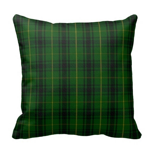 Printed Pillow Cases Green Clan Macarthur font b Tartan b font Plaid Pillow Case Size 45x45cm