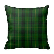 Printed Pillow Cases Green Clan Macarthur Tartan Plaid Pillow Case (Size: 45x45cm) Free Shipping