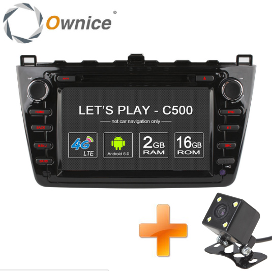 Ownice C500 1024*600 Quad Core Android 6.0 car dvd gps For Mazda 6 Ruiyi Ultra 2008 2009 2010 2011 2012 wifi 4G Radio 2GB RAM BT(China (Mainland))
