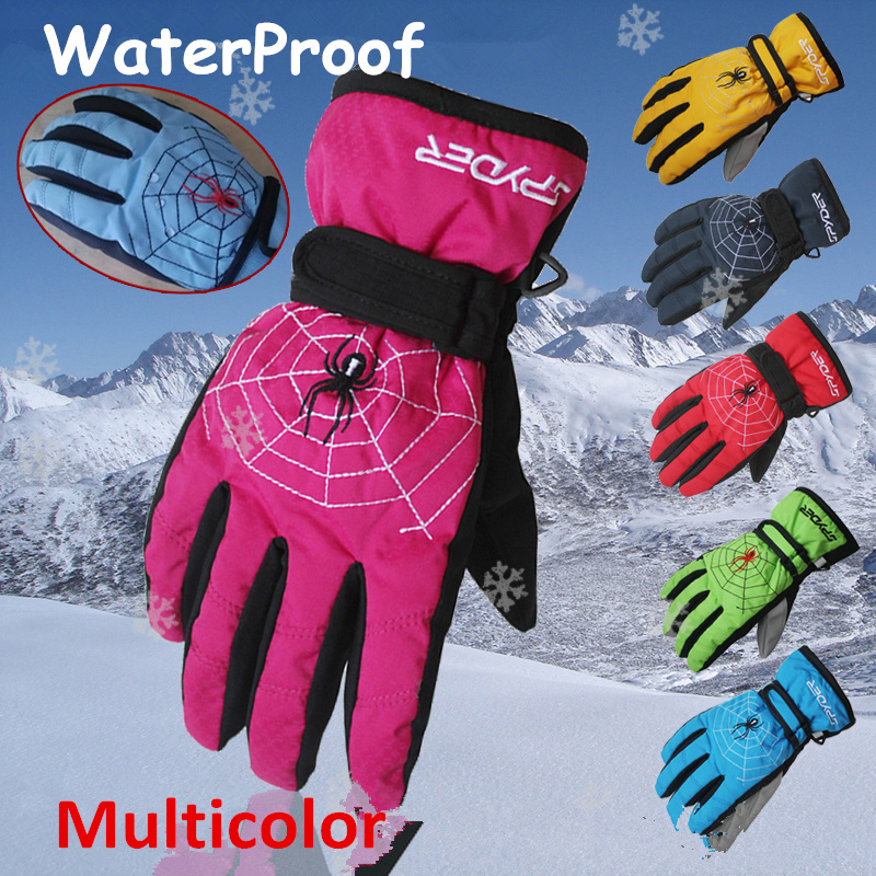 Freeshipping!Winter Children's ski/skating gloves Boy/Girl Outdoor Sports Cycling Luva for kids Waterproof Warm Thermal Gloves(China (Mainland))