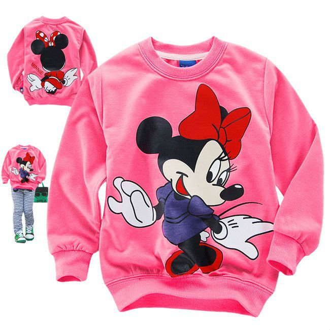 Free shipping fashion Minnie comfortable sweatshirt for girl thin style spring and autumn wholesale and retail(China (Mainland))