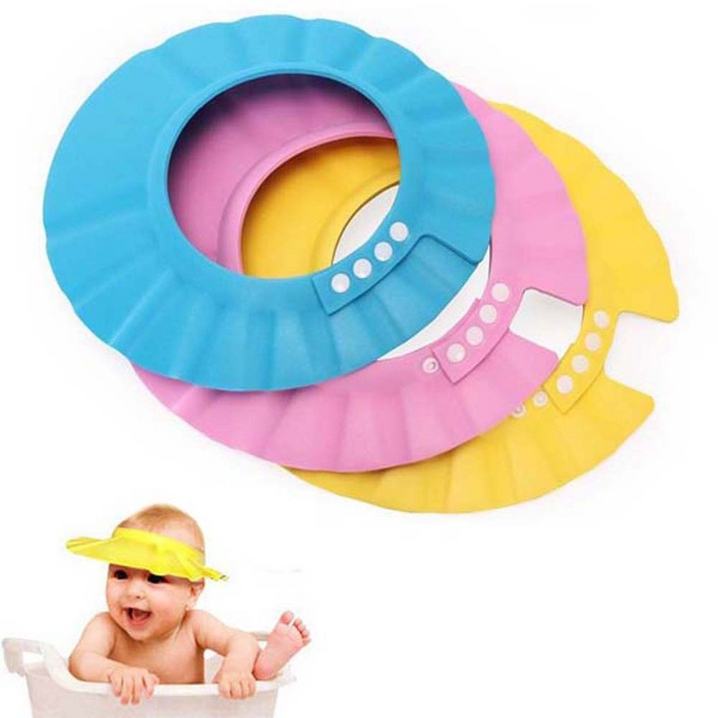 New Durable Baby Shampoo Shower Cap Soft Adjustable Healthy EVA Baby Bath Care Protection Hat Toddler Infant Bathroom Products