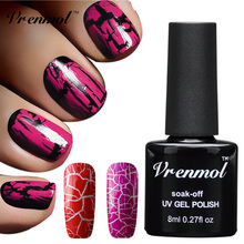 Vrenmol 1pc Soak Off Crack UV Nail Polish Cracks Nail Lacquer Cracking LED UV Nail Varnish Nail Art Tool Design(China (Mainland))