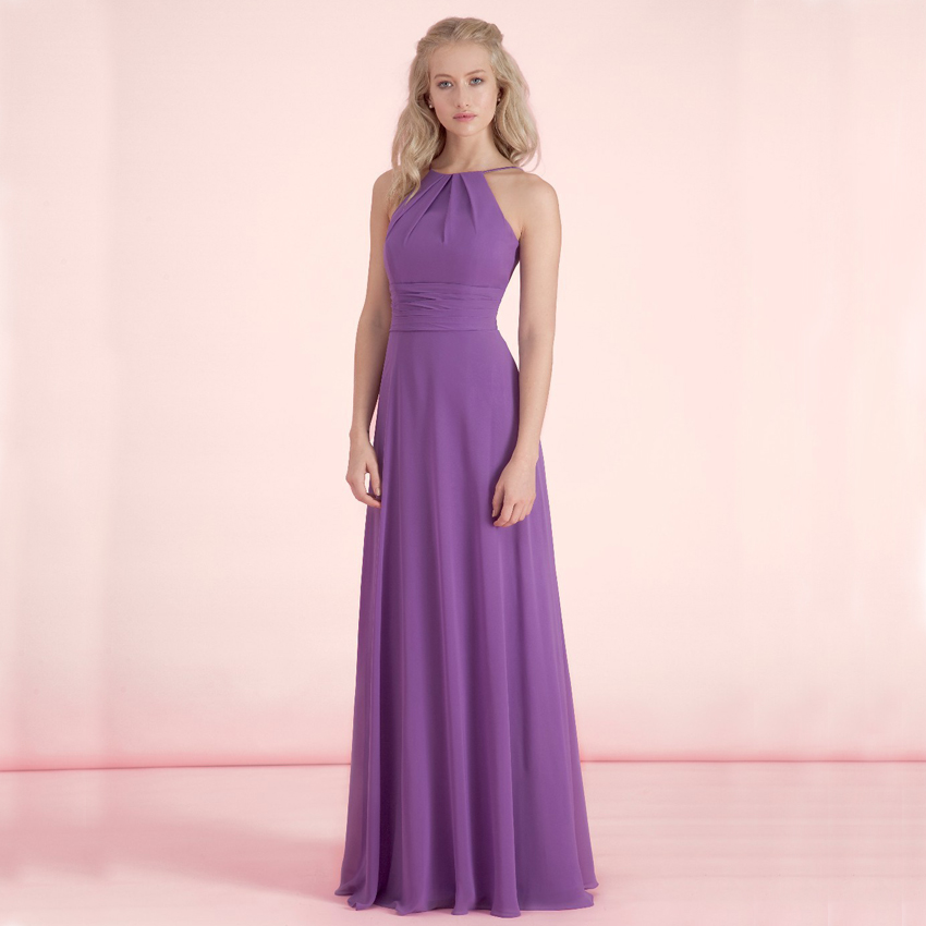 Buy wb8041 plus size simple purple a line for Aline halter wedding dresses