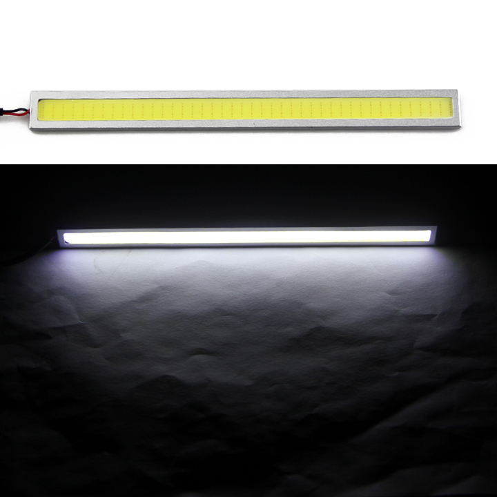 1pc 17cm 6w Auto DRL Daytime Driving Running Light waterproof COB Chip LED Car Styling Daylight