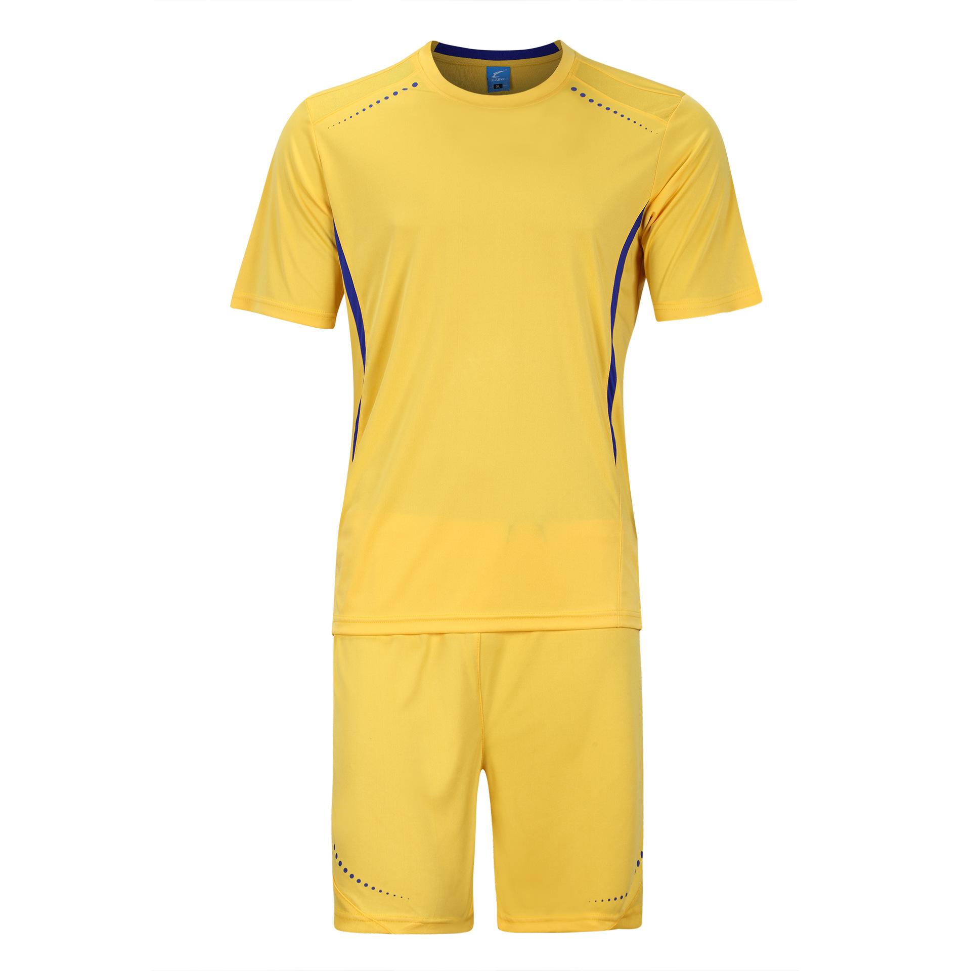 LIBO New Summer Quick Dry Men Soccer Football Jerseys Sets Short-sleeve SportsWear Jersey Training Suit Full Set Futbol Clothes(China (Mainland))