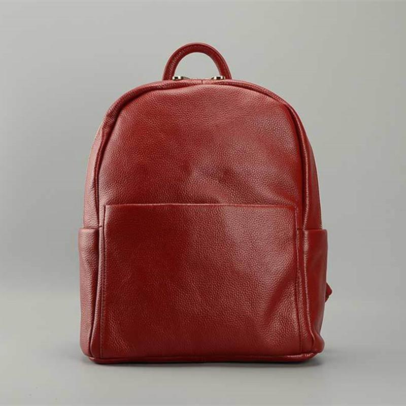 100% Real Soft Genuine Leather Women Backpack Fashion Style Ladies Travel Backpack Female Bags Girl School Rucksacks Black/Blue<br><br>Aliexpress