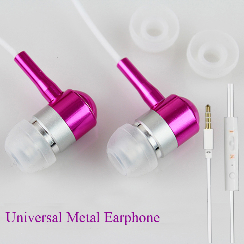 Universal Transfer switch Metal Stereo Earphone 3.5mm In-Ear Earbuds Sport Running Headset Answer Call For Computer Iphone O25(China (Mainland))