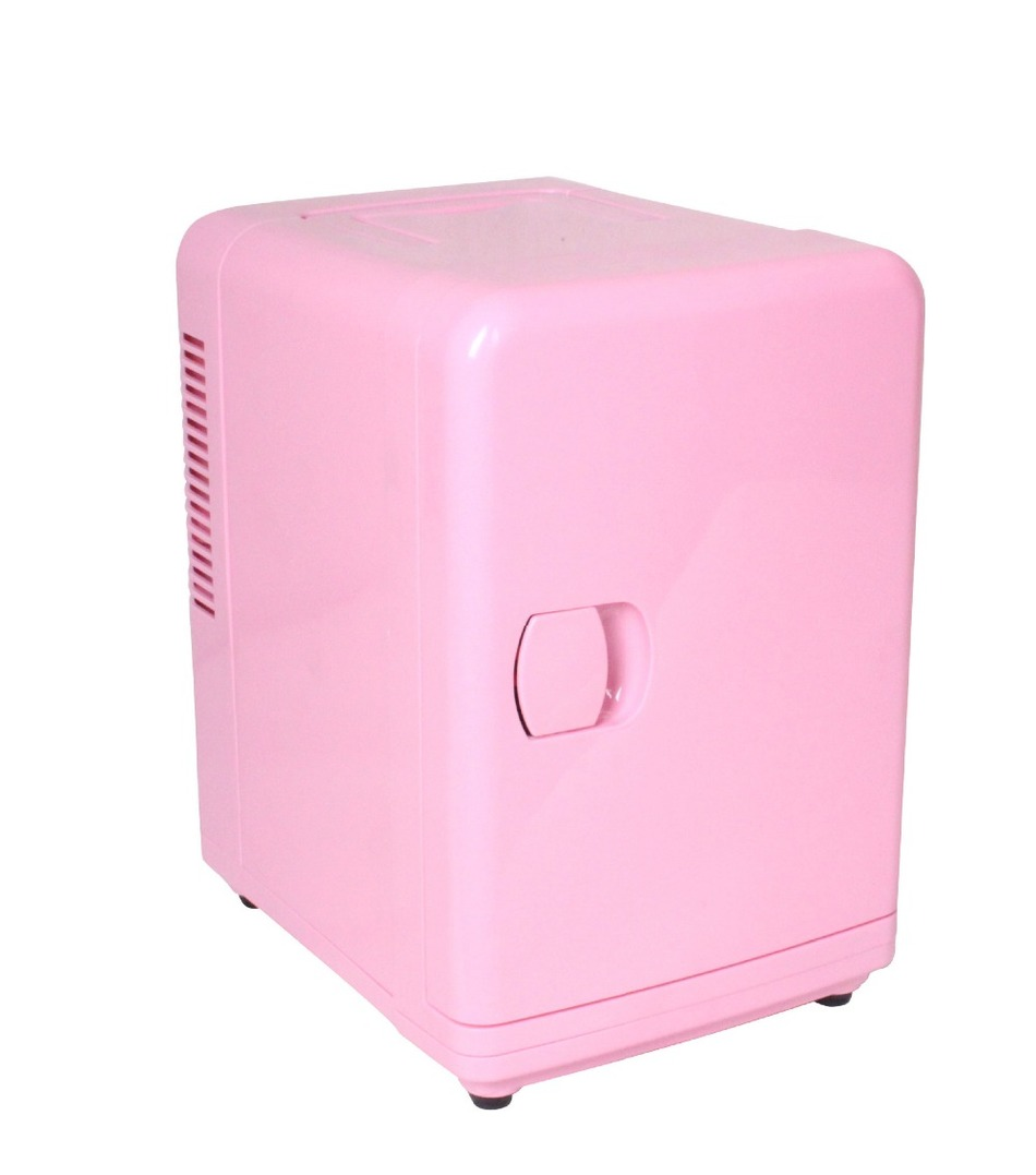 Newest pink vehicle refrigerator,portable Car Refrigerator travel cooler 6L12V freezer Heating Cooler Box Dual Use(China (Mainland))