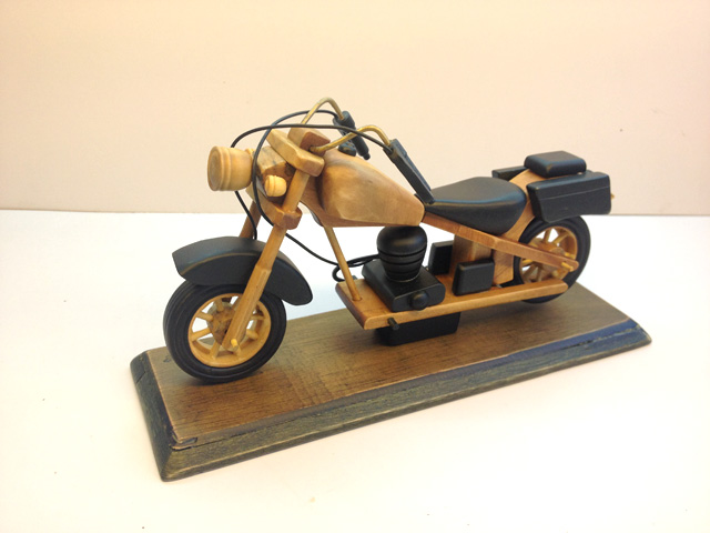 Handmade wood decoration vintage motorcycle model crafts gift(China (Mainland))