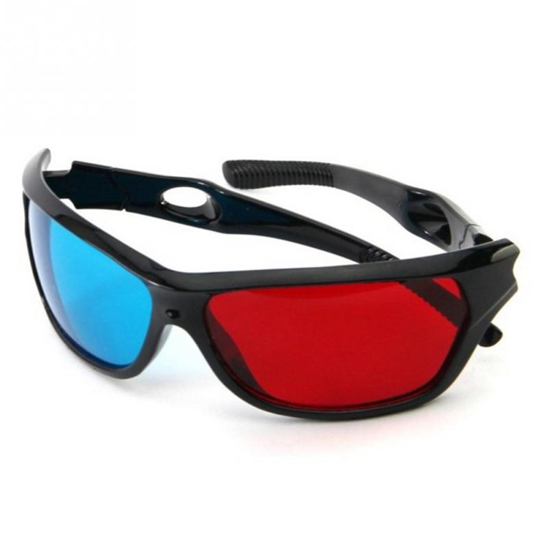 Lowest Price ! 2016 Universal 3D Plastic glasses/Oculos/Red Blue Cyan 3D glass Anaglyph 3D vision/cinema(China (Mainland))