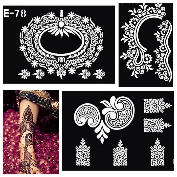 Wholesale Henna Tattoo Stencil Body Paint Mehndi Indian Henna