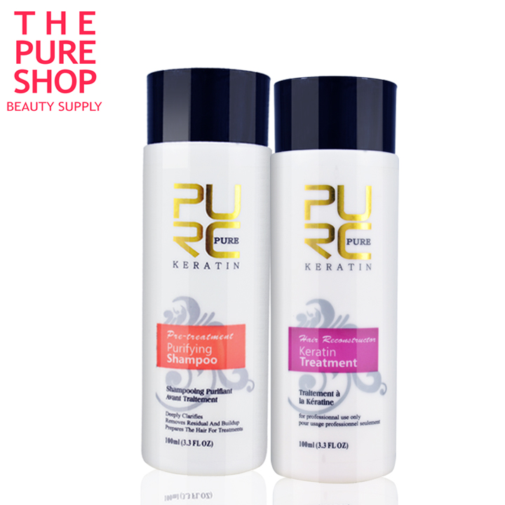 keratin shampoo and keratin hair treatment 100ml x 2 set hot sale use at home make