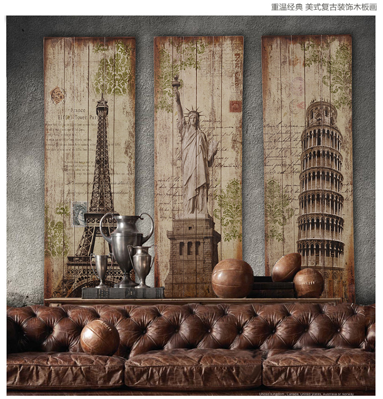 Wall Decor From Wood : Cm top cool decor art vintage wooden wall wood painting