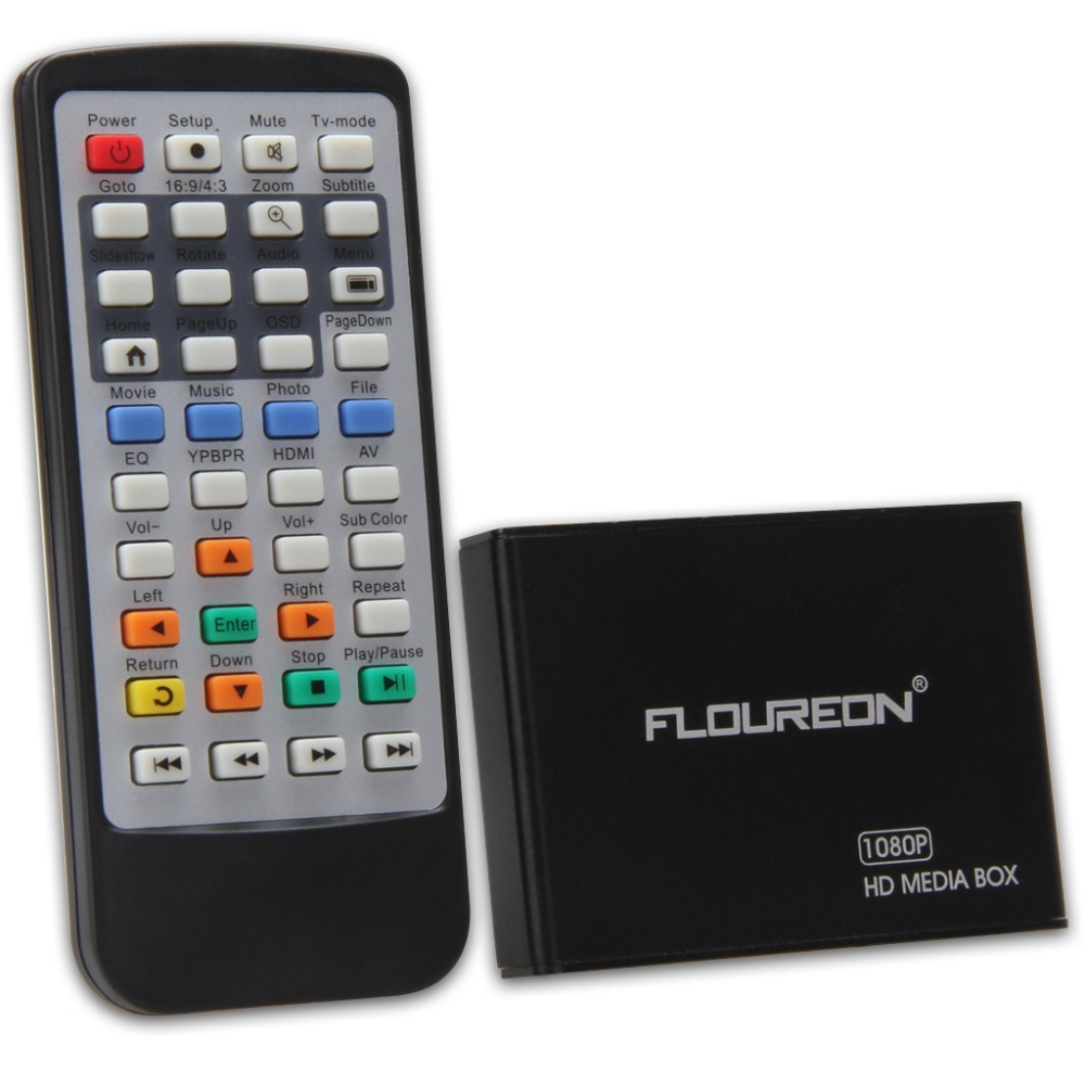 Floureon PDM08H 1080p H.264 Support Blu-ray and 3D From USB HDDs/Flashdrives/Memory Cards HD TV Mini Media Player US(China (Mainland))