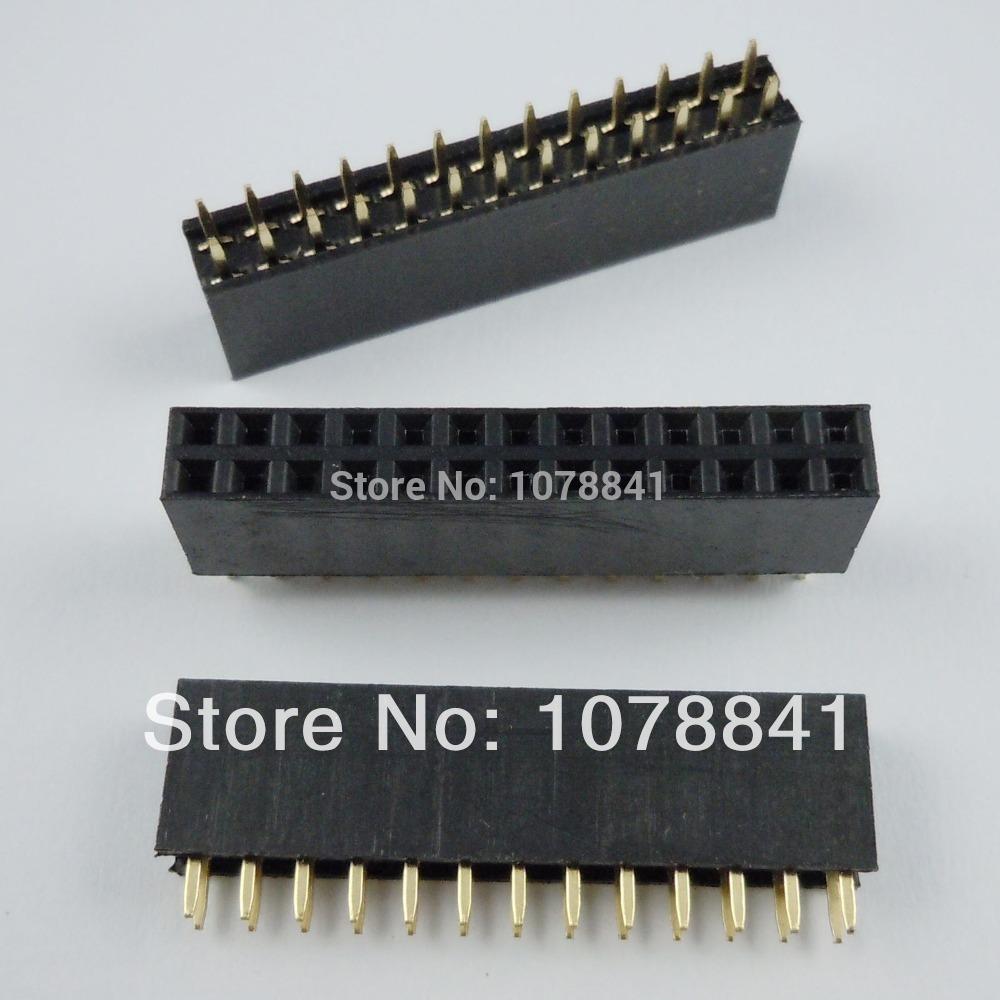 100 Pcs Per Lot Pitch 2.54mm 2x13 Pin 26 Pin Female Double Row Straight Pin Header Strip от Aliexpress INT