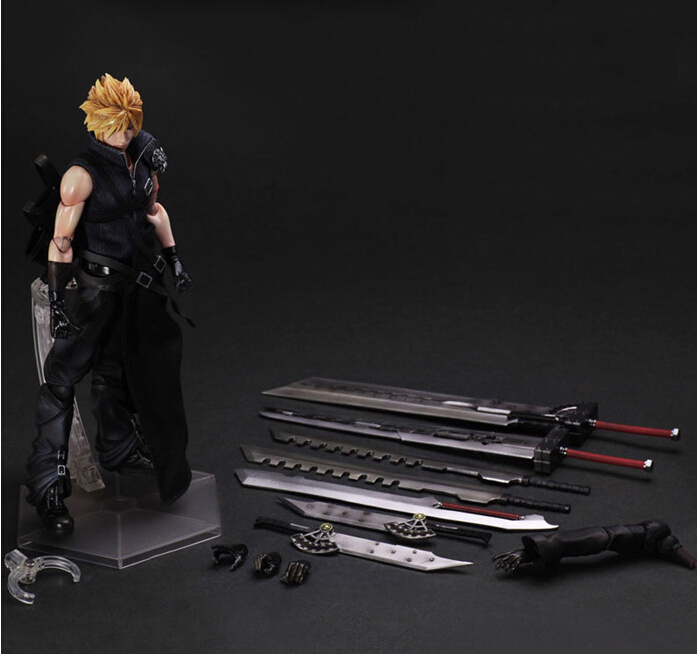 Final Fantasy Action Figure Play Arts Kai Cloud Strife Anime Collection Model Toys 270MM Final Fantasy Playarts(China (Mainland))