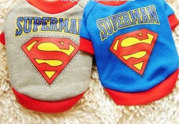 Hot Sale New arrival pet clothes superman spring summer dog clothes Pet Coat,Pet Outerwears/Jacket Pet Tshirt S-XXL