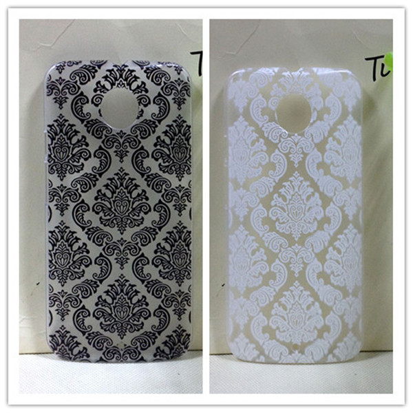 Vintage Paisley Flower Hard Floral Plastic Cases Cover Motorola Moto X+1 / X2 X (2nd Gen.) (2014) XT1097 - All gadgets cooperation store