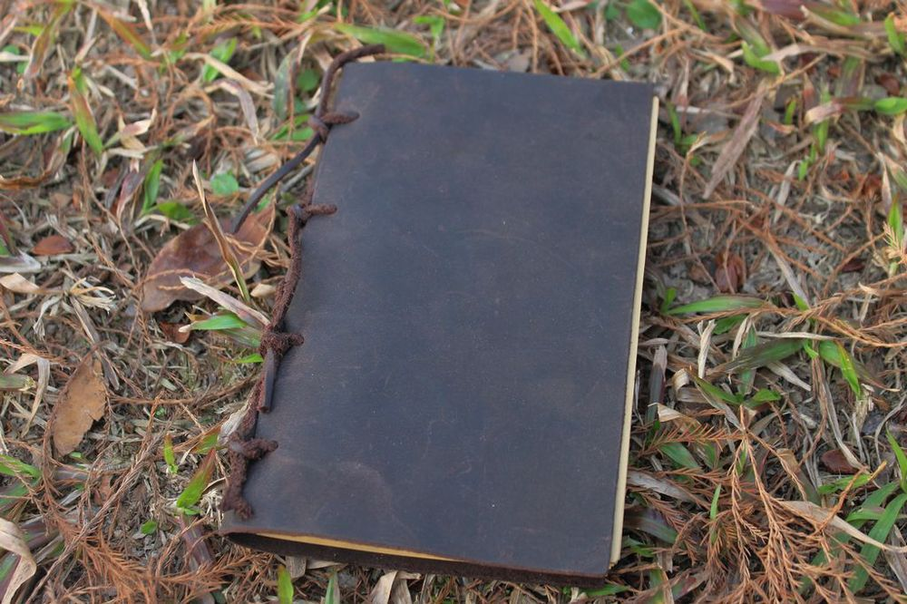 Recycled Material Book Cover : Medieval ancient european genuine leather cover handmade