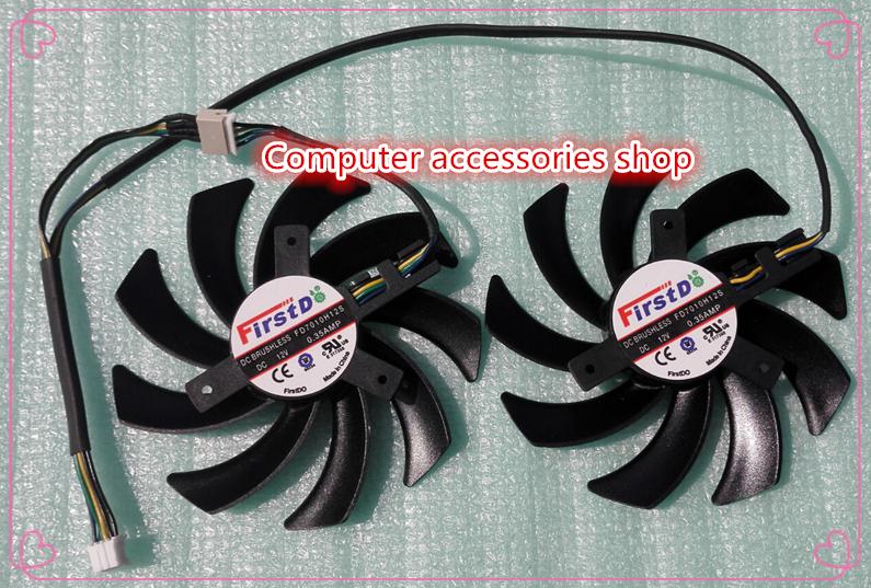 New original 85mm Firstd graphics card Dual X Fan for Sapphire Radeon HD 7790 7850 7870