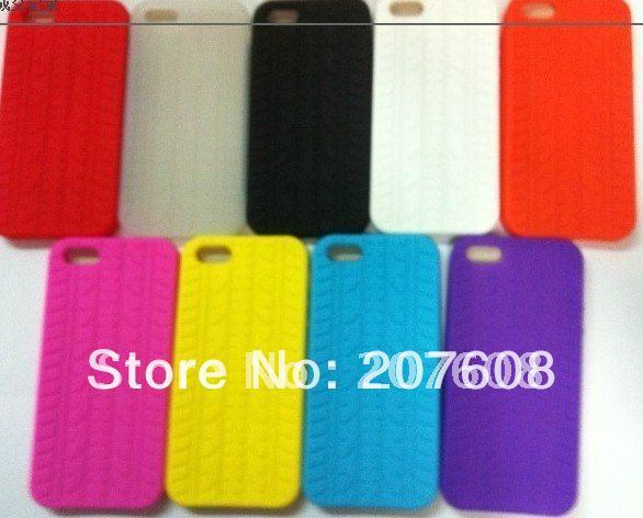 Soft Tire Tyre Silicone Case For Iphone 5 5G 100pcs/lot