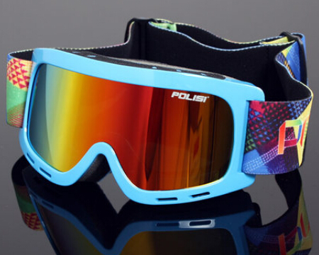 New 2015 POLISI Children Winter Outdoor Sled Glasses Ski Snowmobile Goggles Anti-Fog Sport Protective Snowboard Skate Eyewear