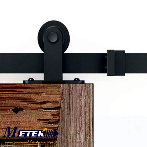 Carbon steel solid wood interior barn sliding door hardware