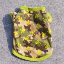 warm fleece Autumn winter Cool skull head camouflage dog hoodies Spring xs dog clothes S M L(China (Mainland))