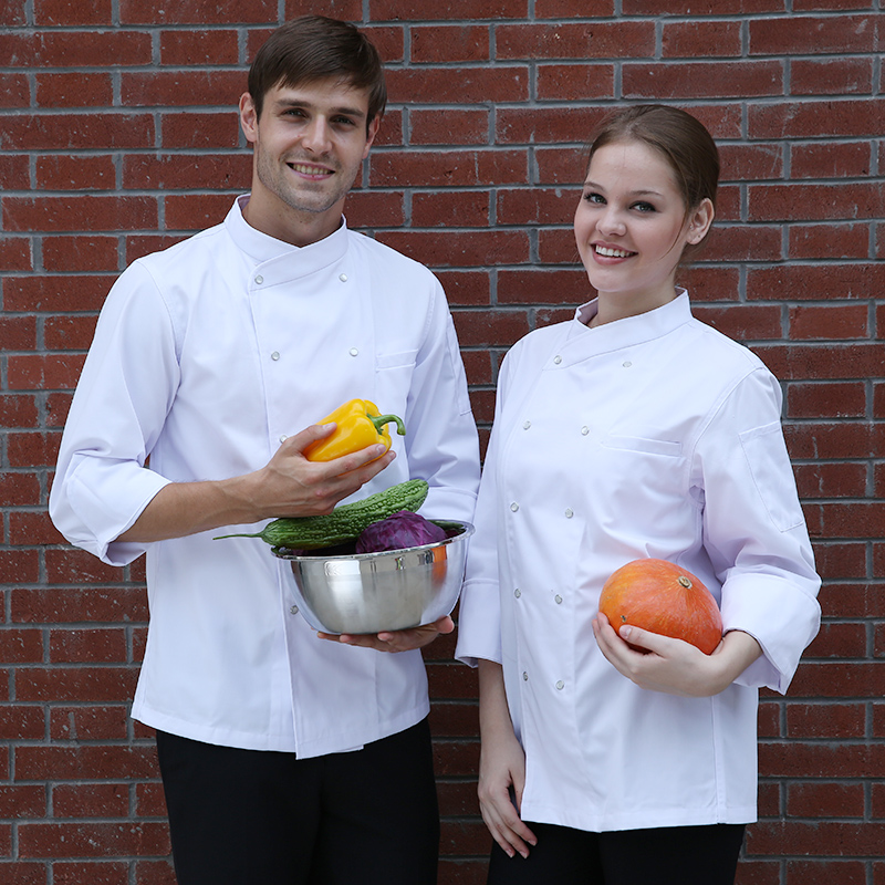 Hot Cook suit long-sleeve autumn and winter chef work wear top quality cook uniform unisex hotel restaurant work clothes(China (Mainland))