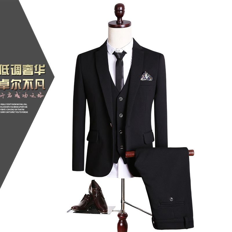 CCXO2016 male suit three-piece dress wedding party Business suitОдежда и ак�е��уары<br><br><br>Aliexpress