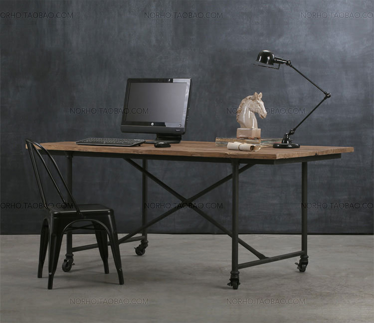 aliexpresscom buy loft american country to do the old industrial style retro desk computer desk table wood coffee table wrought iron chairs from american retro style industrial furniture desk