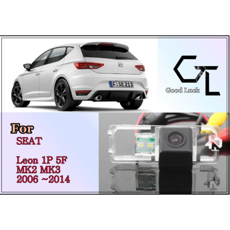 For SEAT Leon 1P 5F MK2 MK3 2006 ~ 2014  CCD Night Vision  20M Waterproof  High Quality Camera For Car  Connectors RCA