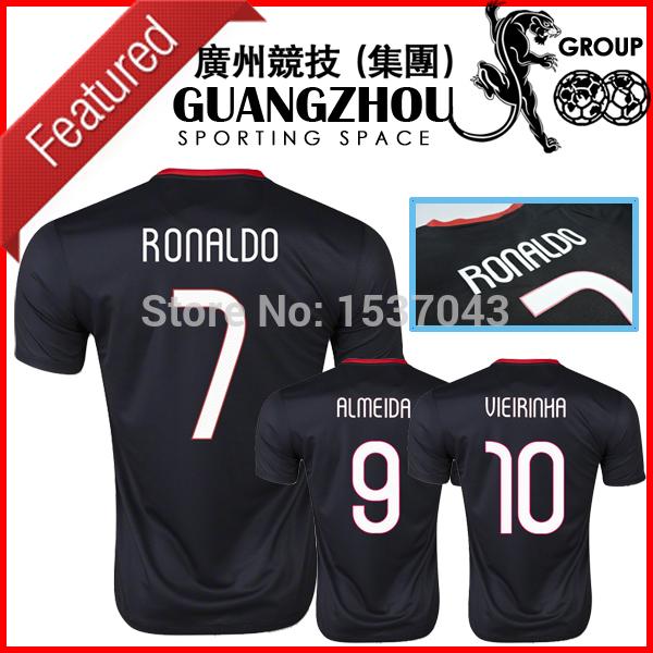 Portugal Jersey 2015 New Away Black Portugal Camisa 2016 Euro Cup National Team Soccer Jersey Football Shirt Camisetas RONALDO(China (Mainland))