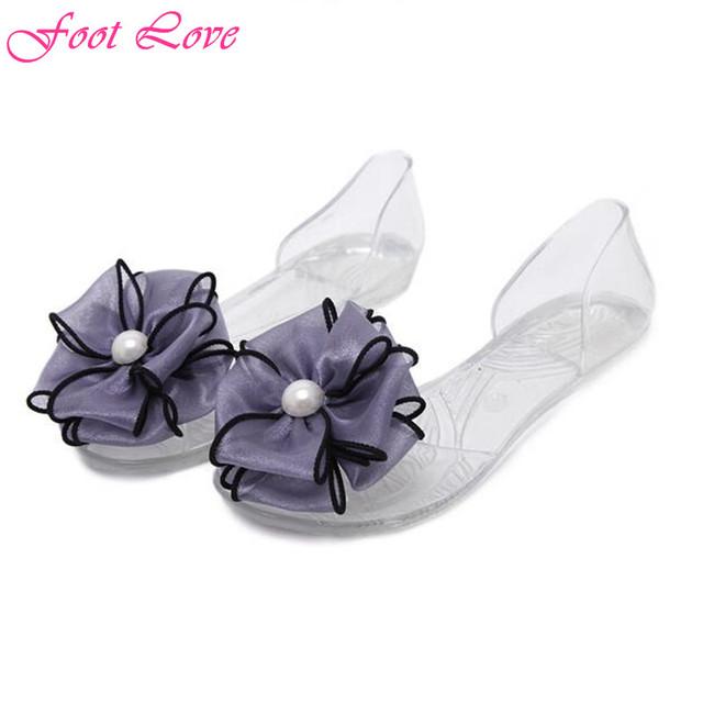 2016 лето Новый стиль женские сандалии мода крупные цветы плоским пип-ноги сандалии свободного покроя женская обувь размер 35 - 39
