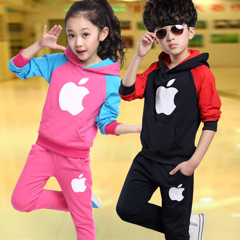 Girls Clothing Set Kids Boys Clothes Kids Child Football Tracksuit Autumn Children's Sports Suits For 2 3 4~12 Years Old(China (Mainland))