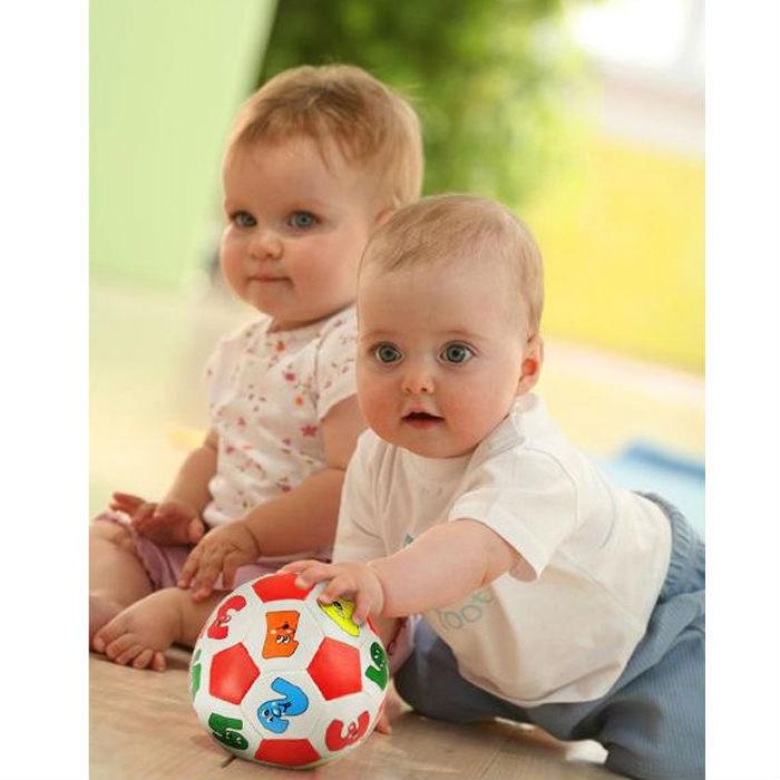 13cm digital soft soccer ball recognize digital Educational Toy Soft baby ball(China (Mainland))