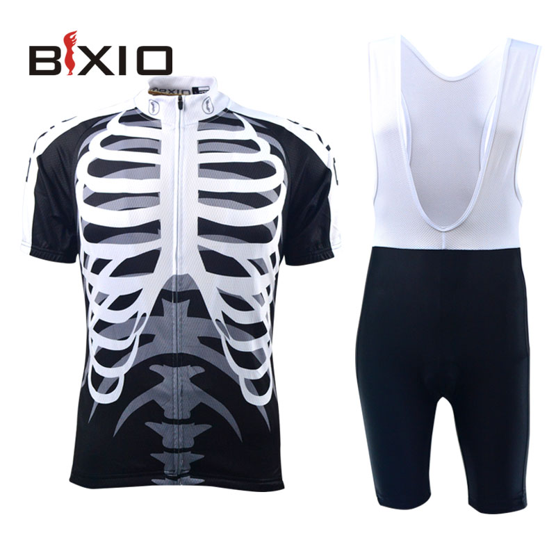 Bxio Cycling Jersey Skeleton Bicicleta Mountain Bike Summer Short Sleeves Bike Dress Top Rate Maillot Ciclismo BX-0209H042(China (Mainland))