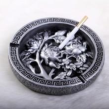 Creative Round roses retro ashtray ashtray Blossoming  Stylish home furnishing coffee table ashtray(China (Mainland))