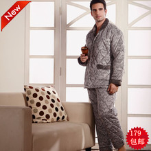 Orchid fairy quality winter cotton-padded sleepwear thickening 9860(China (Mainland))