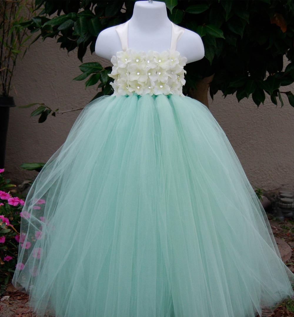 Toddler wedding party flower girl dresses baby girl fashion tutu ...